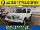 Used 2013 Jeep Patriot NORTH*4WD*CRUISE CONTROL*CLIMATE CONTROL*TRACTION CONTROL*AM/FM/CD/AUX*ROOF RAILS*FOG LIGHTS*KEYLESS ENTRY* for sale in Cambridge, ON