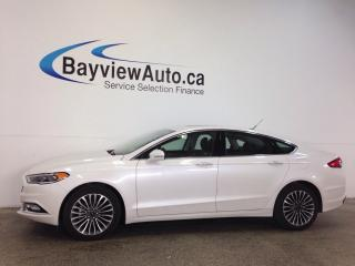 Used 2017 Ford Fusion SE- AWD! REM START! ROOF! LEATHER! NAV! for sale in Belleville, ON