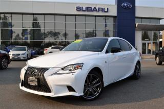 Used 2015 Lexus IS 350 F-Sport 3 - 19,000kms for sale in Port Coquitlam, BC