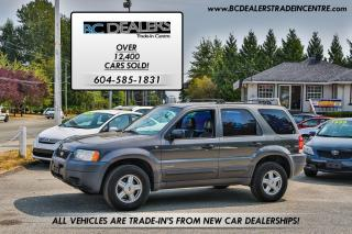 Used 2002 Ford Escape XLS Duratec 2X4, Local BC Truck, Very Clean! for sale in Surrey, BC