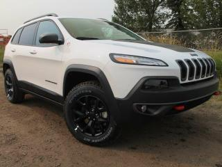 Used 2017 Jeep Cherokee Trailhawk 4x4 GPS Navigation / Full Sunroof for sale in Edmonton, AB