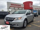 Used 2015 Honda Odyssey SE, one owner, clean carproof report for sale in Scarborough, ON
