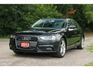 Used 2013 Audi A4 2.0T Premium Plus NAVI| B&O Sound system| Lane ass for sale in Waterloo, ON