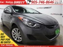 Used 2013 Hyundai Elantra GL| HEATED SEATS| ONE PRICE INTEGRITY| for sale in Burlington, ON