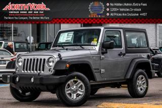 New 2017 Jeep Wrangler New Car Sport|4x4|TrailerTowPkg|A/C|CruiseCtrl|GREATDEAL! for sale in Thornhill, ON