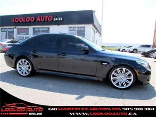 Used 2008 BMW 5 Series 550i Head up Display M PKG Navigation Certified for sale in Milton, ON
