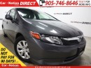 Used 2012 Honda Civic LX| LOW KM'S| WE WANT YOUR TRADE| for sale in Burlington, ON