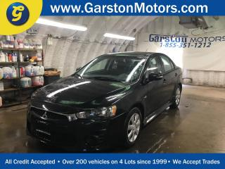 Used 2016 Mitsubishi Lancer CVT*PHONE CONNECT*TRACTION CONTROL*HEATED SEATS*CLIMATE CONTROL*POWER WINDOWS LOCKS AND MIRRORS*CD PLAYER/AM/FM/AUX*BUTTONS FOR RADIO CRUISE AN for sale in Cambridge, ON