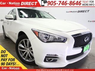 Used 2014 Infiniti Q50 Premium| LOW KM'S| AWD| NAVI| SUNROOF| for sale in Burlington, ON