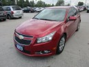 Used 2013 Chevrolet Cruze LOADED LTZ - RS MODEL 5 PASSENGER 1.4L - TURBO ECO-TEC.. LEATHER.. HEATED SEATS.. BACK-UP CAMERA.. POWER SUNROOF.. BLUETOOTH SYSTEM.. for sale in Bradford, ON