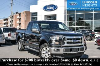 Used 2015 Ford F-150 XLT SUPERCAB 6.5' BED 4WD - BLUETOOTH - REAR VIEW CAMERA - TRAILER TOW for sale in Ottawa, ON