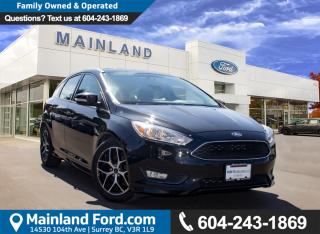 Used 2015 Ford Focus SE LOCAL, ONE OWNER for sale in Surrey, BC