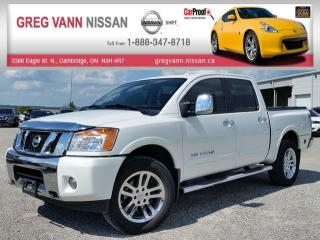 Used 2014 Nissan Titan SL w/all leather,NAV,climate control,heated seats,sunroof,tonneau cover,running boards for sale in Cambridge, ON