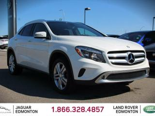 Used 2015 Mercedes-Benz GLA-Class GLA 250 4MATIC - Local One Owner Trade In | No Accidents | Heated Leather Seats | Panoramic Sunroof | Dual Zone Climate Control with AC | Memory Seating | Navigation | Back Up Camera | Bluetooth | 19 Inch Wheels | Collision Avoidance Program | Blind Spot  for sale in Edmonton, AB