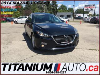 Used 2014 Mazda MAZDA3 GS+Camera+GPS+Sunroof+Heated Seats+Fog Lights+Sky+ for sale in London, ON
