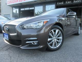 Used 2014 Infiniti Q50 -AWD-NAVIGATION-CAMERA-LEATHER-ROOF for sale in Scarborough, ON