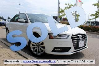 Used 2013 Audi A4 *SOLD* Tiptronic quattro w/ Bi-Xenon Headlights for sale in Whitby, ON