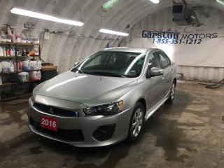 Used 2016 Mitsubishi Lancer CVT*PHONE CONNECT*TRACTION CONTROL*HEATED SEATS*CLIMATE CONTROL*POWER WINDOWS LOCKS AND MIRRORS*CD PLAYER/AM/FM/AUX* for sale in Cambridge, ON