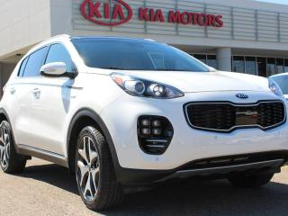 Used 2017 Kia Sportage SX 2.0T, PANORAMIC SUNROOF, NAVI, BACKUP CAM, HEATED & COOLED FRONT SEATS, HEATED REAR SEATS, HEATED WHEEL, POWER TAILGATE, AUX /USB for sale in Edmonton, AB