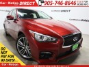 Used 2014 Infiniti Q50 S| AWD| LOW KM'S| NAVI| SUNROOF| for sale in Burlington, ON