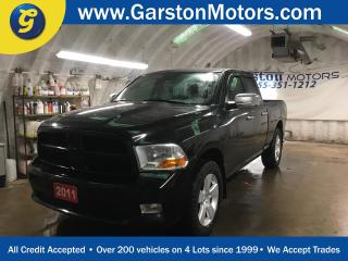 Used 2011 Dodge Ram 1500 QUAD CAB*4WD*HEMI*TOW/HAUL MODE*REAR SLIDING WINDOW*AM/FM/XM/CD/AUX*FLOW MASTER EXHAUST*HITCH RECEIVER w/PIN CONNECTOR*FOG LIGHTS*KEYLESS ENTRY* for sale in Cambridge, ON