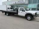 Used 2006 Ford F-550 2wd diesel with 16 ft steel flat deck for sale in Richmond Hill, ON