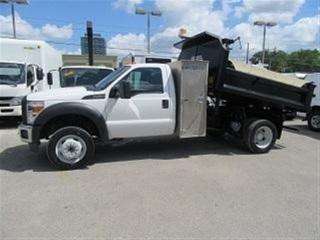 Used 2013 Ford F-550 Gas 4x4 with 9 ft steel dump box for sale in Richmond Hill, ON