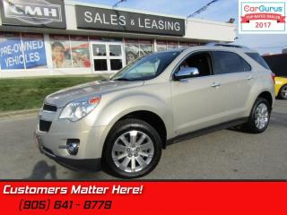 Used 2010 Chevrolet Equinox LTZ  AWD, V6, LEATHER, DVD, ROOF, CAM, HS, BT for sale in St Catharines, ON