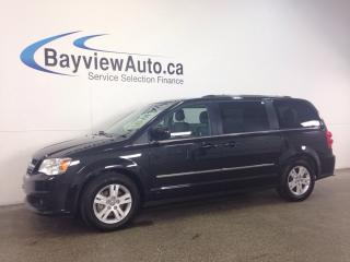 Used 2017 Dodge Grand Caravan CREW - LEATHER! 2xDVD! NAVI! PWR DOORS! for sale in Belleville, ON
