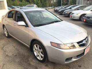 Used 2004 Acura TSX AUTO/SUNROOF/LEATHER/ALLOYS/HEATED SEATS/LIKE NEW for sale in Pickering, ON