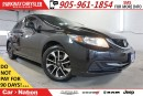 Used 2013 Honda Civic EX| SUNROOF| REMOTE START| REAR CAM| BLUETOOTH| for sale in Mississauga, ON
