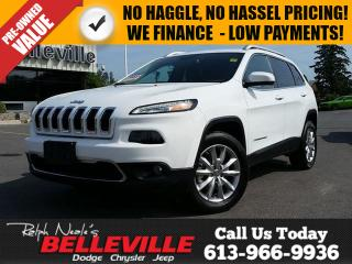Used 2016 Jeep Cherokee Limited-Remote Start-GPS Navigation for sale in Belleville, ON