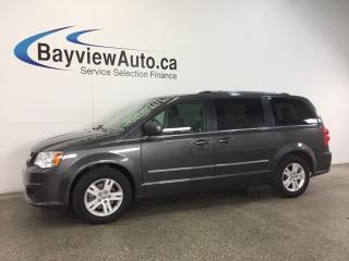 Used 2017 Dodge Grand Caravan CREW- LEATHER! NAV! REV CAM! PWR TRUNK! U-CONNECT! for sale in Belleville, ON