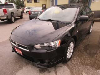Used 2010 Mitsubishi Lancer 'GREAT VALUE' FUEL EFFICIENT ES MODEL 5 PASSENGER 2.0L - DOHC.. CD/AUX INPUT.. KEYLESS ENTRY.. for sale in Bradford, ON