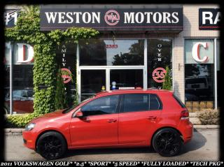 Used 2011 Volkswagen Golf 2.5*SPORT*5 SPEED*FULLY LOADED*TECH PKG* for sale in York, ON