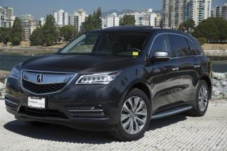 Used 2016 Acura MDX Tech *Tech Pkg - W/Rear DVD*Local Vehicle! for sale in Vancouver, BC