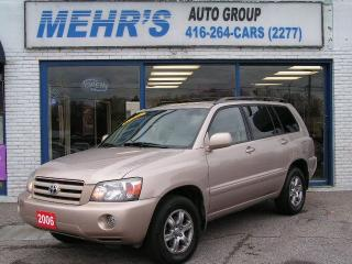 Used 2006 Toyota Highlander Loaded Leather No Accident New Brakes for sale in Scarborough, ON