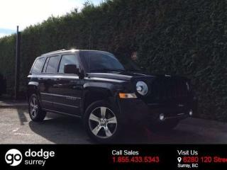 Used 2016 Jeep Patriot HIGH ALTITUDE 4X4 + LEATHER HEATED FT SEATS + SUNROOF + NO EXTRA DEALER FEES for sale in Surrey, BC