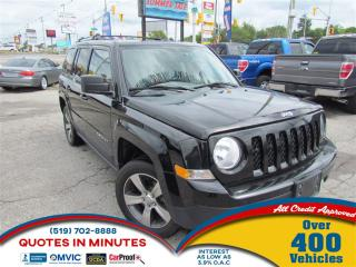 Used 2016 Jeep Patriot HIGH ALTITUDE | LEATHER | SUNROOF | 4X4 | BT for sale in London, ON