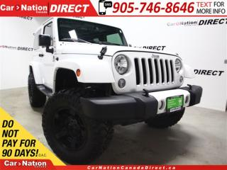 Used 2016 Jeep Wrangler Sahara| LOW KM'S| LIFTED| UPGRADED RIMS & TIRES| for sale in Burlington, ON