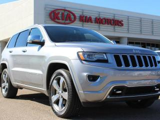 Used 2014 Jeep Grand Cherokee OVERLAND, HEATED AND COOLED SEATS, HEATED WHEEL, PANORAMIC SUNROOF, NAVI, BACKUP CAM, POWER TAILGATE, LEATHER for sale in Edmonton, AB