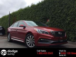 Used 2015 Hyundai Sonata Sport + SUNROOF + HEATED FT/RR SEATS + BACK-UP CAMERA + BLIND-SPOT MONITORING for sale in Surrey, BC