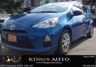 Used 2012 Toyota Prius c HYBRID TECHNOLOGY, ECO MODE, TRACTION for sale in Scarborough, ON