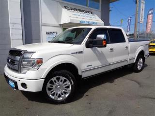 Used 2013 Ford F-150 Platinum Nav, 6.5 Box, Eco-Boost, Max Trailer Tow for sale in Langley, BC