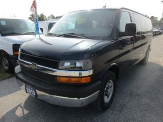 Used 2013 Chevrolet Express 1-TON PEOPLE MOVER LS MODEL 15 PASSENGER 6.0L - V8.. AIR-CONDITIONING.. CD/AUX INPUT.. KEYLESS ENTRY.. STABILITRAK.. for sale in Bradford, ON