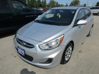 Used 2015 Hyundai Accent POWER EQUIPPED GLS MODEL 5 PASSENGER 1.6L - DOHC.. HEATED SEATS.. CD/AUX/USB INPUT.. BLUETOOTH.. ACTIVE-ECO MODE.. for sale in Bradford, ON
