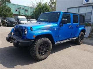 Used 2016 Jeep Wrangler Unlimited Sahara Backcountry Package, Leather, Loaded, Only for sale in Concord, ON