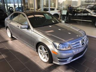Used 2013 Mercedes-Benz C-Class C 350 4MATIC, Accident Free, Safety Tech, Navigation for sale in Edmonton, AB