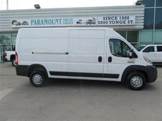Used 2016 RAM ProMaster 3500 1 ton Ext High roof gas cargo loadd for sale in Richmond Hill, ON