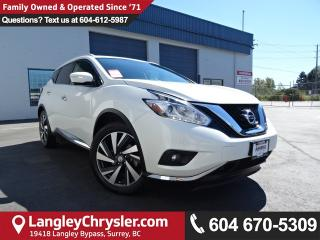 Used 2015 Nissan Murano Platinum *ACCIDENT FREE*ONE OWNER*LOCAL BC CAR* for sale in Surrey, BC